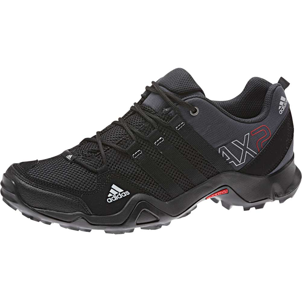 4f7cb292b15c Adidas Mens AX 2 Shoe Dark Shale Black Light Scarlet