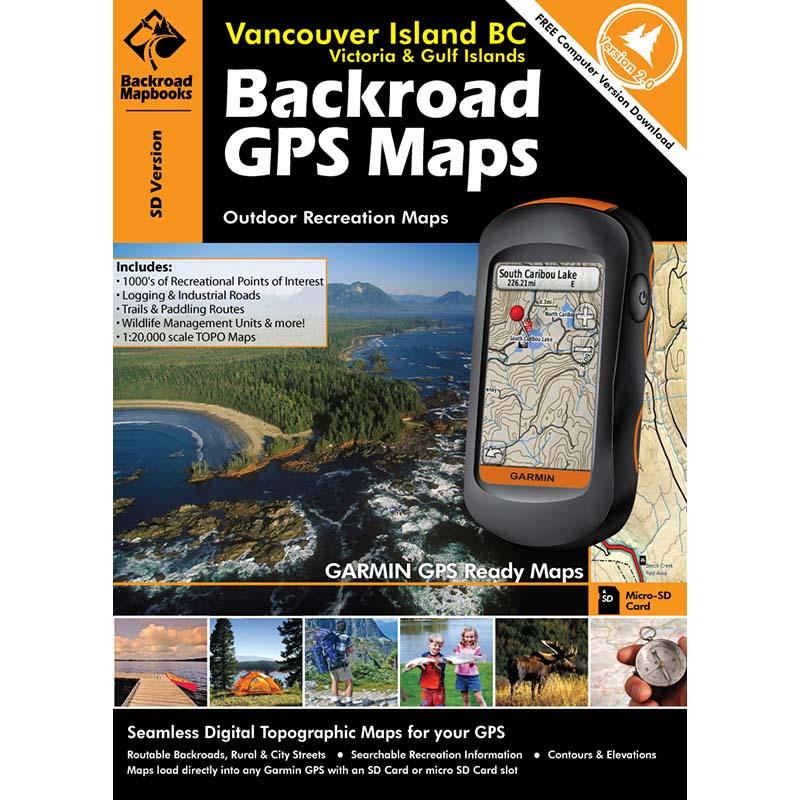 Backroad GPS Maps - Vancouver Island BC (SD Card) - # 978-1 ... on gps maps for sd, tomtom gps sd card, gps maps screen, microsd card, gps maps software, nextar gps sd card, us maps sd card,