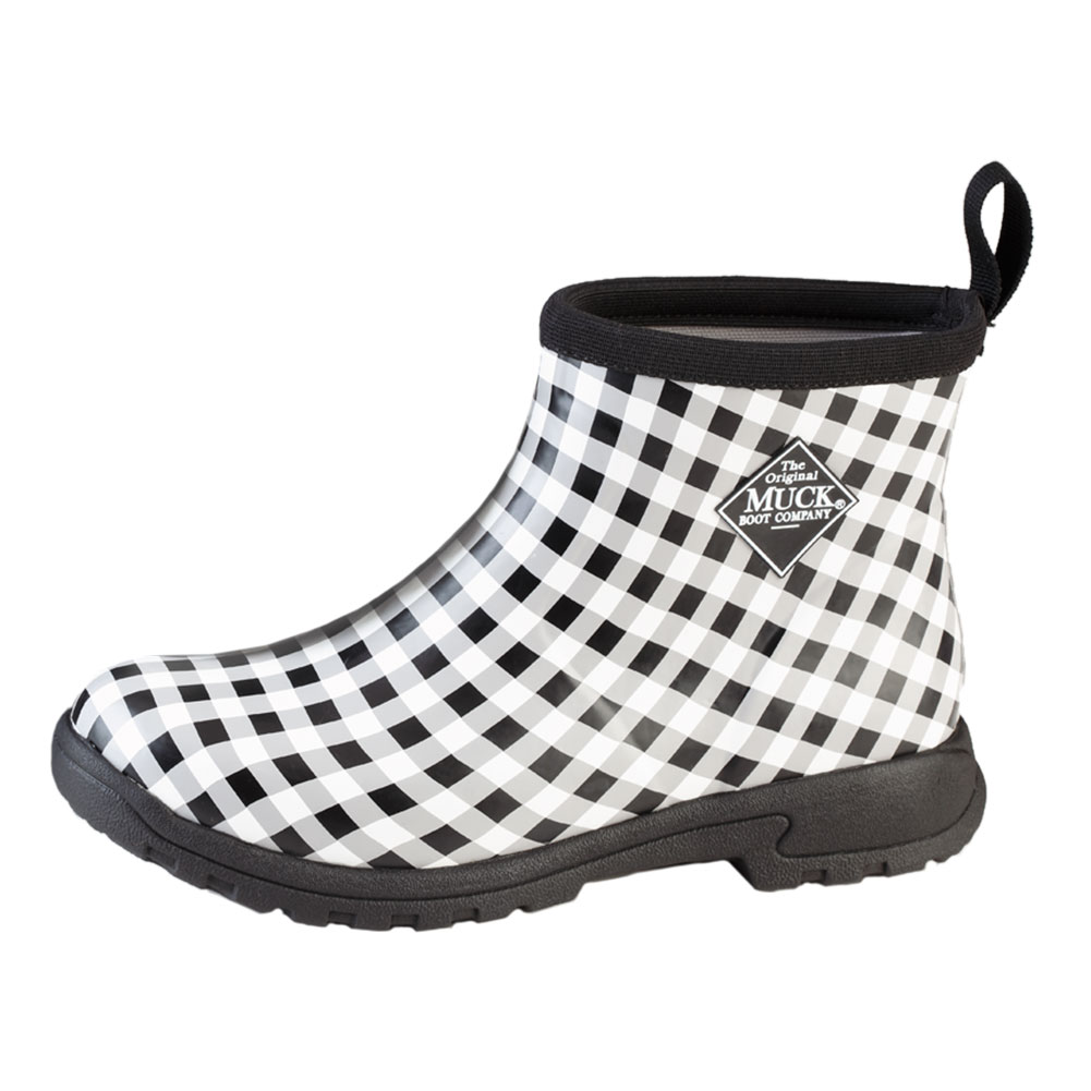 d83f2463a55a Muck Boots Womens Breezy Cool Ankle Boot Black Gingham (bza-0ghm)