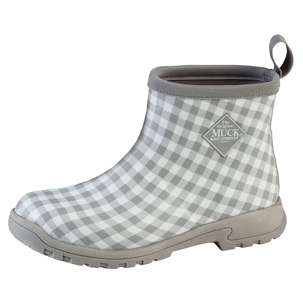 4ed319f53869a8 Muck Boots Womens Breezy Cool Ankle Boot Grey Gingham (bza-1ghm)