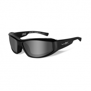 Wiley X JAKE Sunglasses, Smoke Grey Lens / Gloss Black Frame