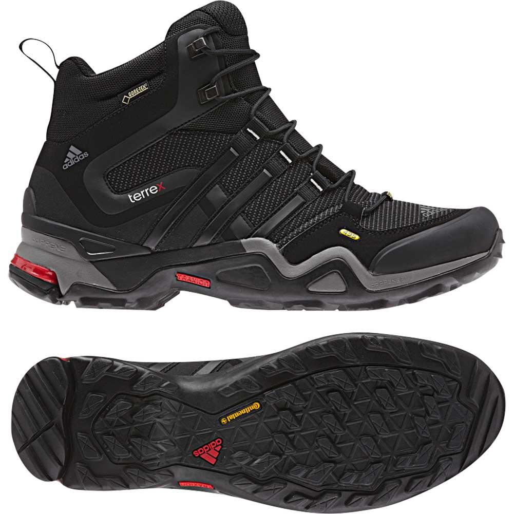 promo code 1172f f69ab Adidas Mens TERREX FAST X MID GTX Boot, CarbonBlackLight Sca