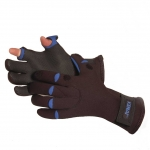 "Glacier Glove ""Bristol Bay"" (Fishing) Curved/Slit-Finger Fleece Lined, Black/Blue"