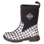 Muck_Boots_Kids_Breezy_Mid_Boot_Black_Gingham  (bmk-0ghm)