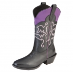 Muck_Boots_Womens_Western_Boot_Black_Purple  (wst-500)