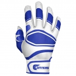 Cutters Men's White/Royal POWER CONTROL Baseball Glove