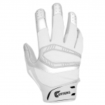 Cutters Men's Solid White REV PRO SOLIDS Receiver Glove