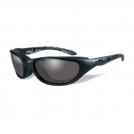 Wiley X AIRRAGE Sunglasses, Black Ops, Smoke Grey Lens / Matte Black Frame