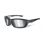 Wiley X BRICK Sunglasses, Silver Flash (Smoke Grey) Lens / Crystal Metallic Frame