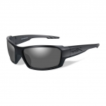 Wiley X WX REBEL Sunglasses, Black Ops, Smoke Grey Lens / Matte Black Frame