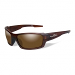 Wiley X WX REBEL Sunglasses, POLARIZED Bronze Lens / Matte Layered Tortoise Frame