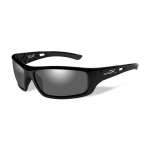 Wiley X SLAY Sunglasses, POLARIZED Smoke Grey Lens / Gloss Black Frame