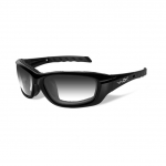 Wiley X WX GRAVITY Sunglasses, LA Light Adjusting Smoke Grey Lens / Gloss Black Frame
