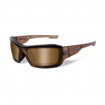 Wiley X WX KNIFE Sunglasses, POLARIZED Bronze Lens / Brown Crystal Frame
