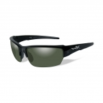 Wiley X WX SAINT Sunglasses, POLARIZED Smoke Green Lens / Gloss Black Frame