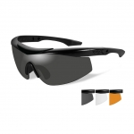 Wiley X WX TALON ADVANCED Sunglasses, 3 Lens Package (Smoke Grey/Clear/Light Rust) / Matte Black Frame
