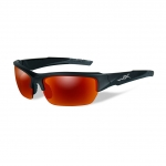 Wiley X WX VALOR Sunglasses, POLARIZED Crimson Mirror (Grey) Lens / Black 2 Tone Frame