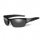 Wiley X WX VALOR Sunglasses, Black Ops, POLARIZED Smoke Grey Lens / Matte Black Frame