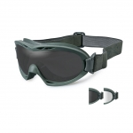 Wiley X NERVE Goggles, 2 Lens Package (Smoke Grey/Clear) / Foliage Green Frame