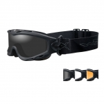 Wiley X SPEAR Goggles, 3 Lens Package (Smoke Grey/Clear/Light Rust) / Matte Black Frame