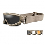 Wiley X SPEAR Goggles, 3 Lens Package (Smoke Grey/Clear/Light Rust) / Tan Frame