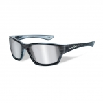 Wiley X WX MOXY Sunglasses, Silver Flash (Smoke Grey) Lens / Black Streak Frame