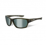 Wiley X WX MOXY Sunglasses, POLARIZED Platinum Flash (Green) Lens / Olive Stripe Frame