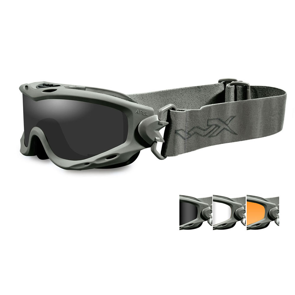 1398cef68 Wiley X SPEAR Goggles, 3 Lens Package (Smoke Grey/Clear/Light Rust) /  Foliage Green Frame